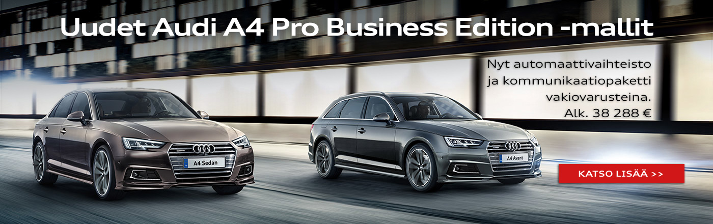 Uudet Audi A4 Pro Business Edition -mallit